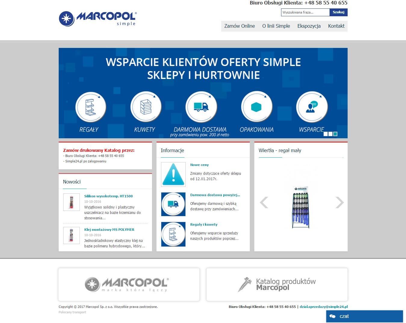 Klient Marcopol - system b2b oparty o Magento