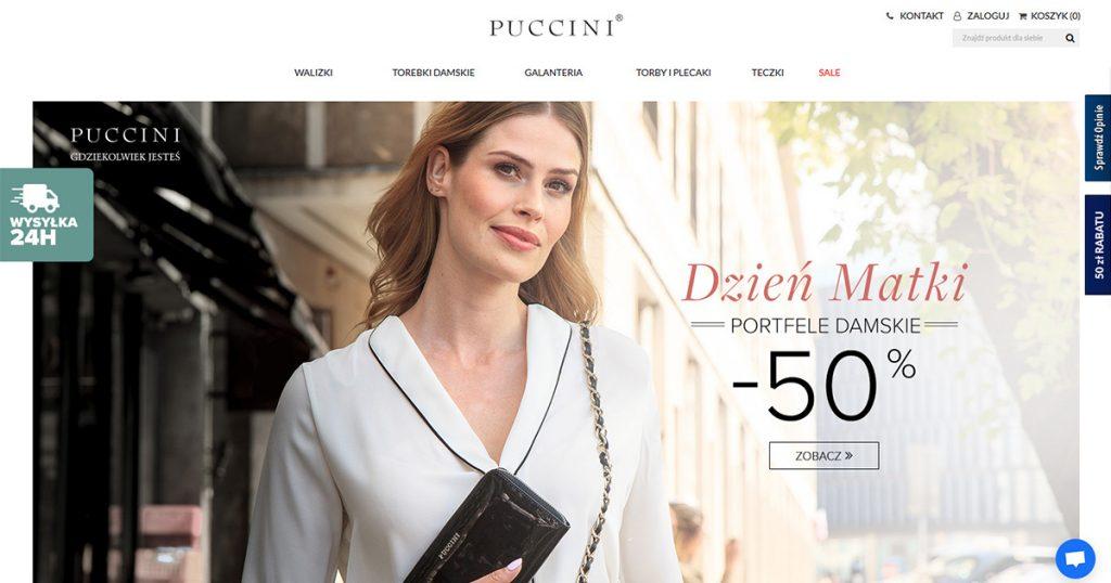 c19a755ceaafb8 Współpraca odbywa się w zakresie usługi Wsparcia Magento. Klient zdecydował  się oddać pod naszą opiekę swój oficjalny sklep internetowy – sklep .puccini.pl.