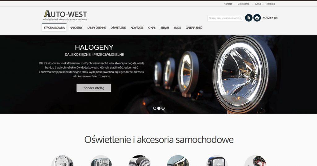 Auto-West.pl – odświeżenie wyglądu sklepu