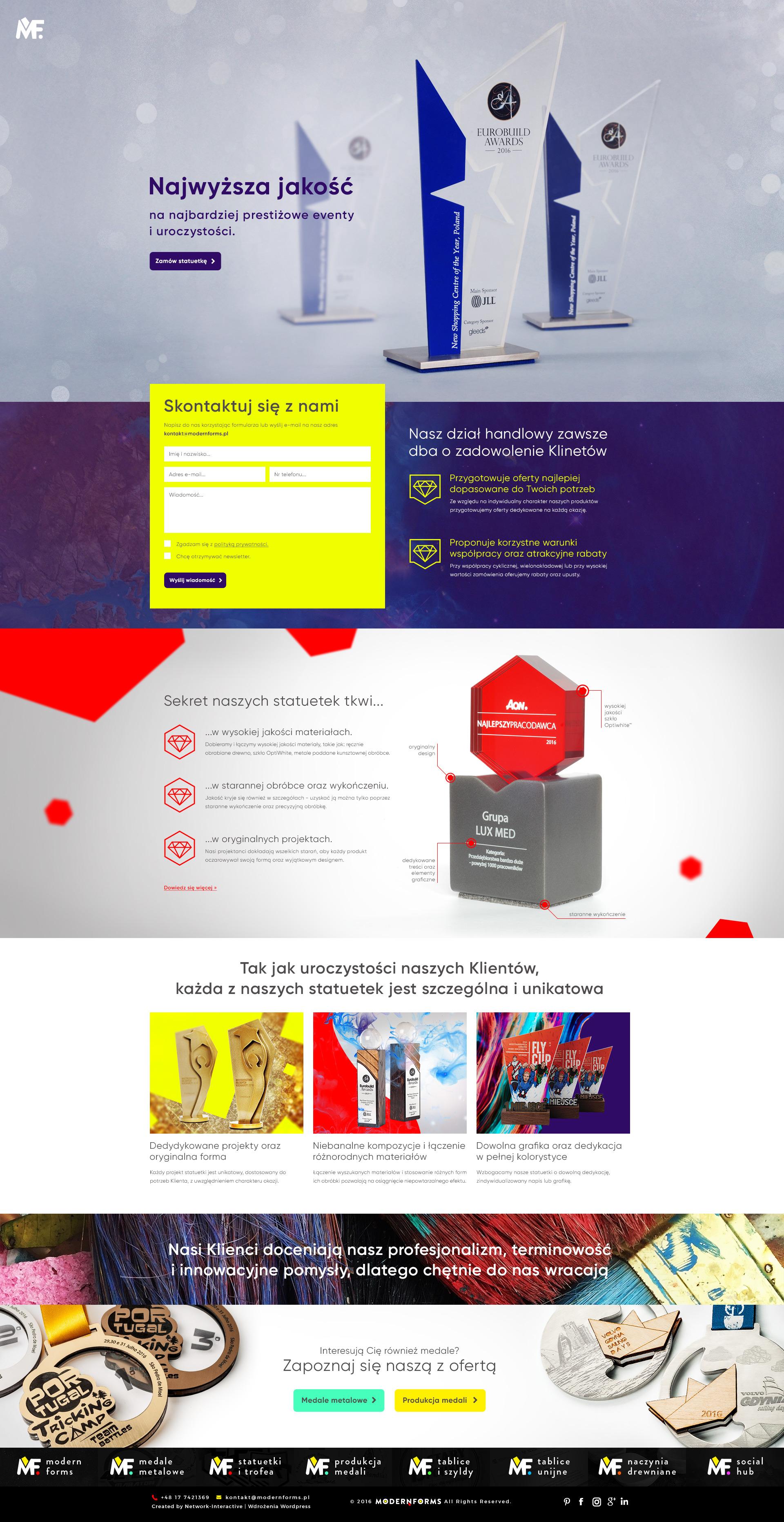 Landing Page pod kampanie JAKOŚĆ - Modern Forms