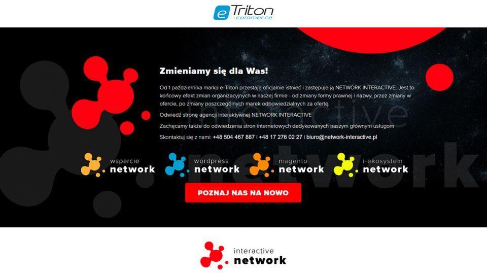 Firma i marka E-Triton oficjalnie zastąpiona przez NETWORK