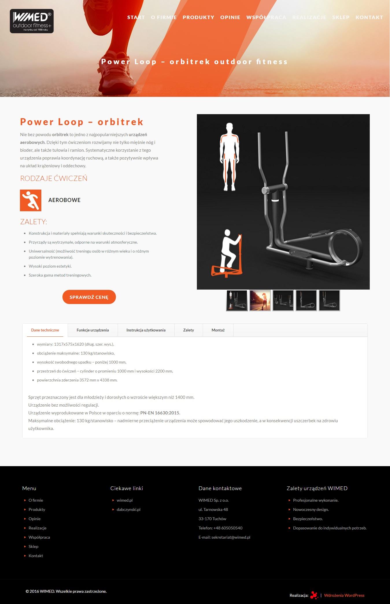 klient Wimed - serwis produktowy silownie-zewnetrzne.eu