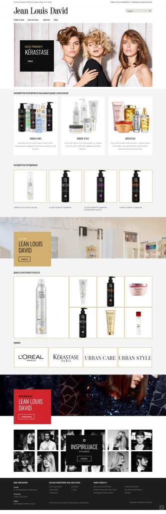 klient - Jean Louis David - katalog produktów na Magento