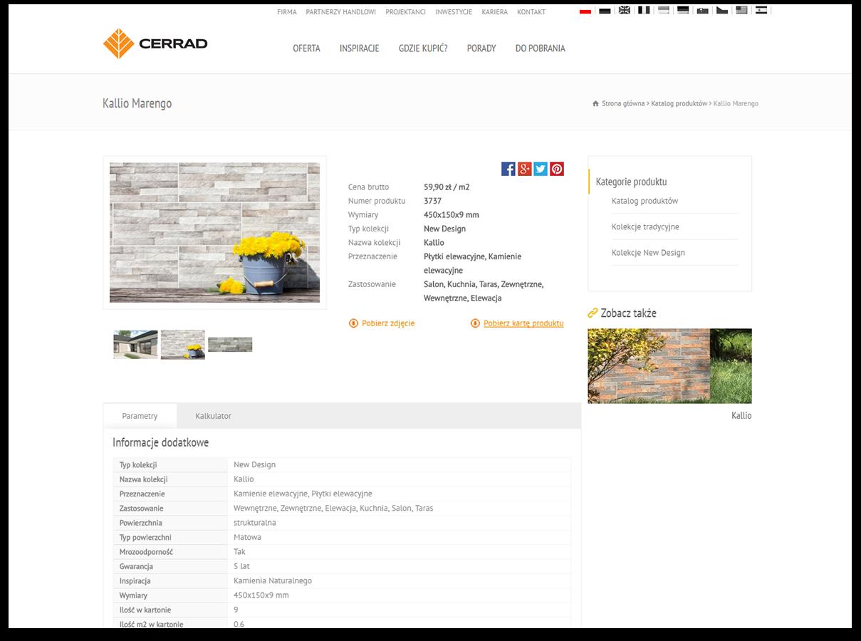 Katalog produktów na platformie Magento