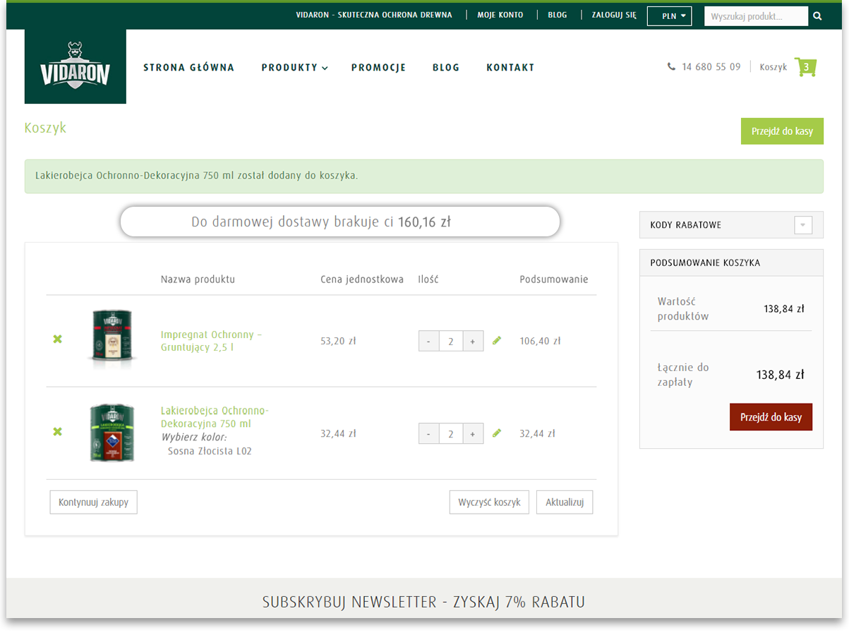 Funkcja wyliczenia brakującej kwoty do darmowej dostawy, sklep Magento