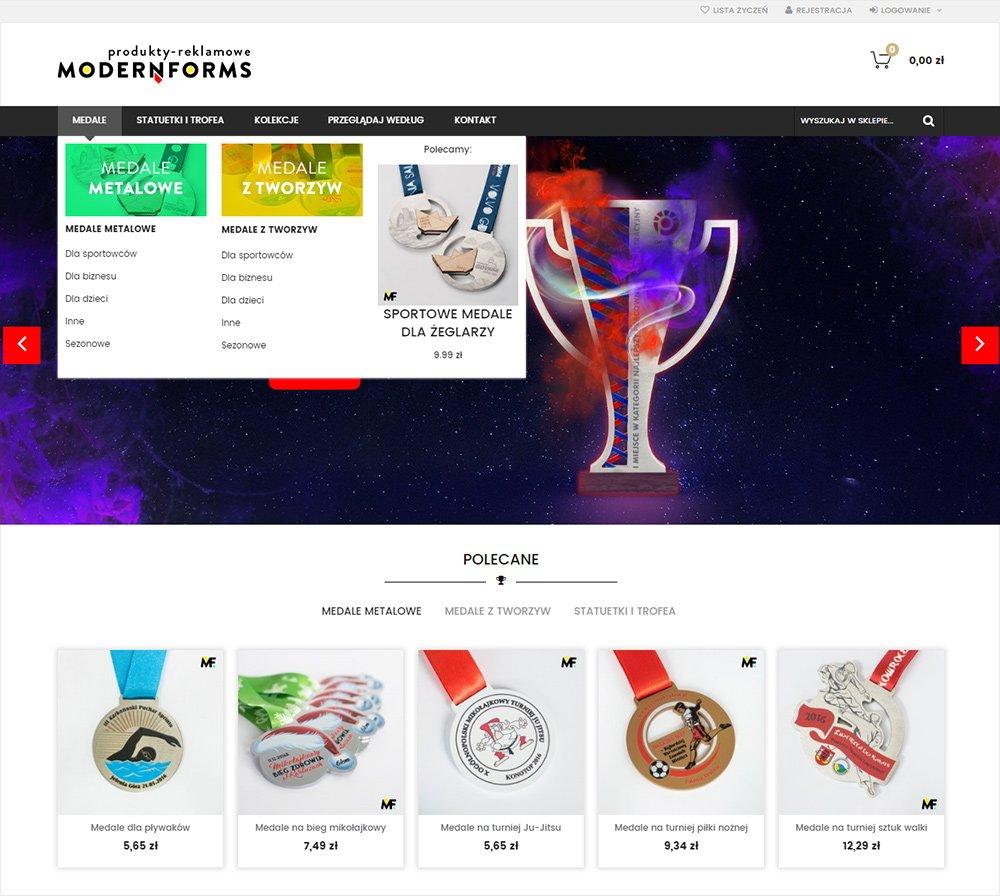 Sklep z produktami reklamowymi na Magento