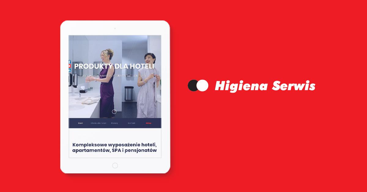 Sklep, strona firmowa, serwisy produktowe i wsparcie marketingowe dla Higiena Serwis